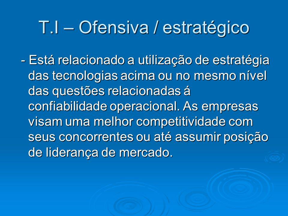 T.I – Ofensiva / estratégico
