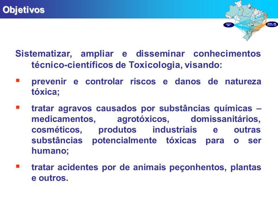 Objetivos PRODUÇÃO. Sistematizar, ampliar e disseminar conhecimentos técnico-científicos de Toxicologia, visando: