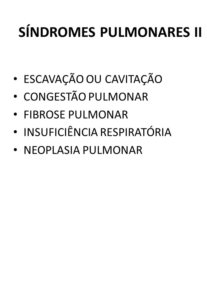 SÍNDROMES PULMONARES II
