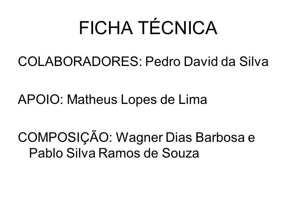FICHA TÉCNICA COLABORADORES: Pedro David da Silva