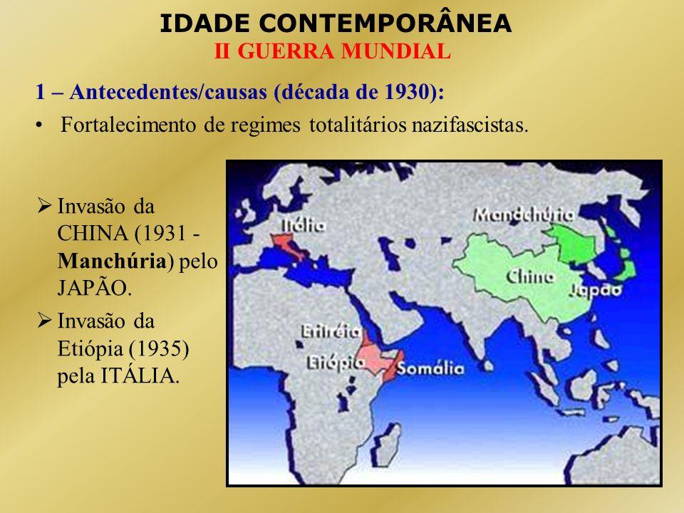 1 – Antecedentes/causas (década de 1930):