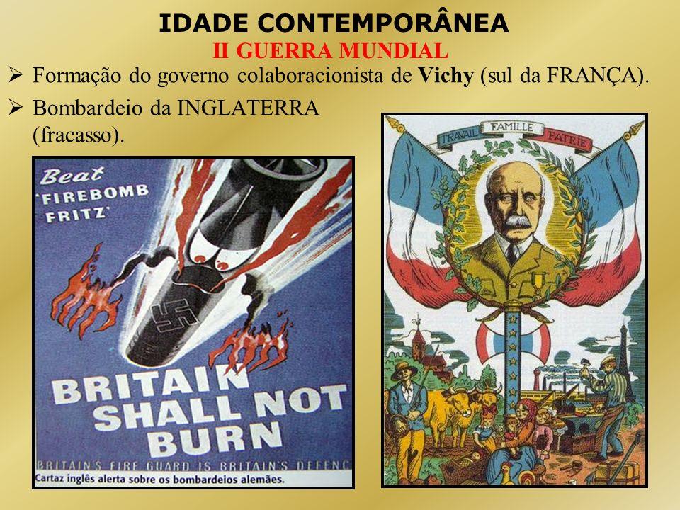 Formação do governo colaboracionista de Vichy (sul da FRANÇA).