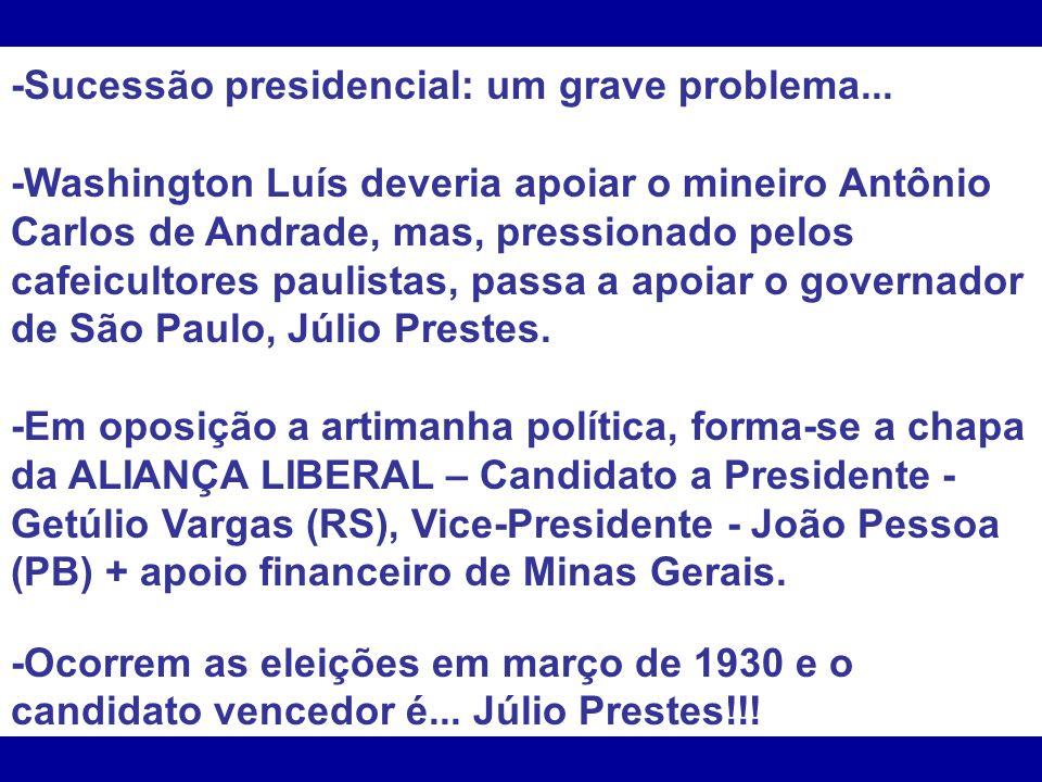 -Sucessão presidencial: um grave problema...