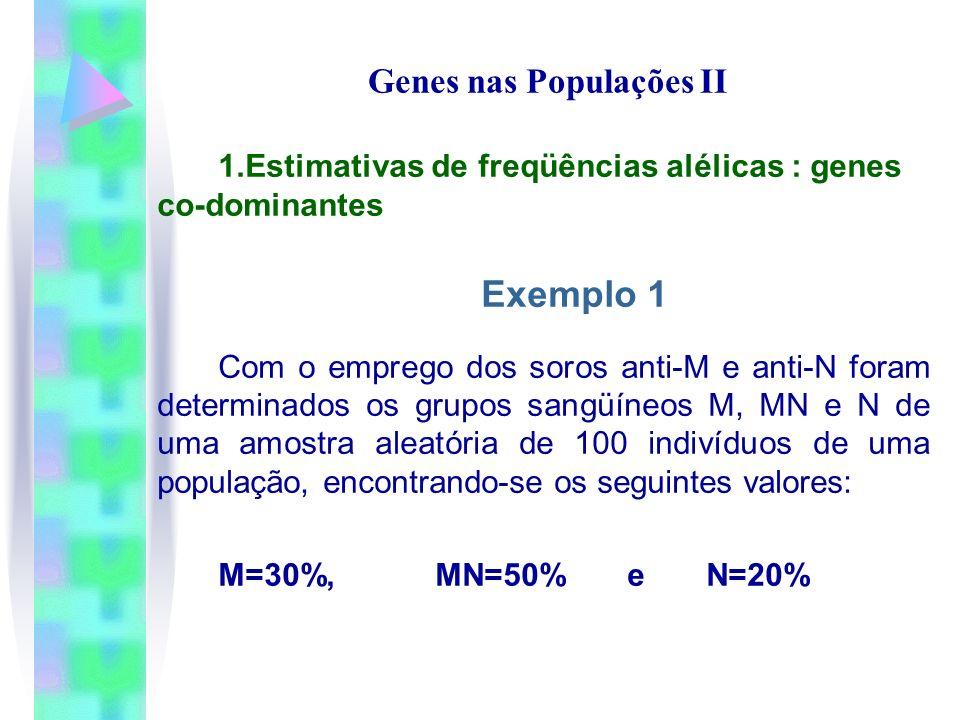 Genes nas Populações II