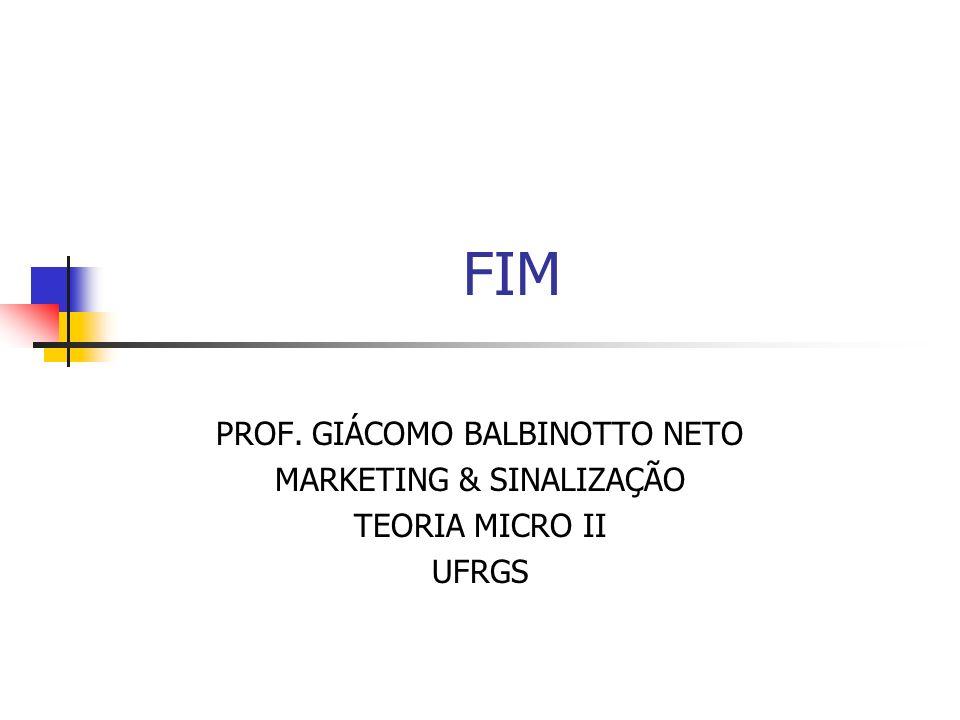 FIM PROF. GIÁCOMO BALBINOTTO NETO MARKETING & SINALIZAÇÃO