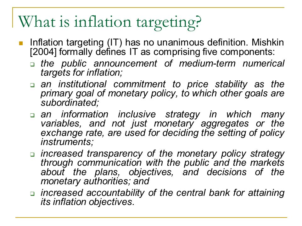 What is inflation targeting