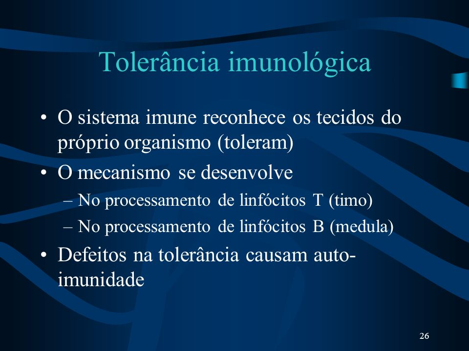 Tolerância imunológica