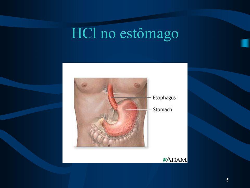 HCl no estômago