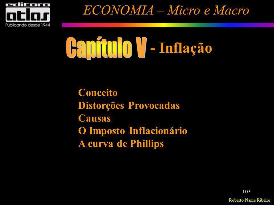 Capítulo V - Inflação Conceito Distorções Provocadas Causas