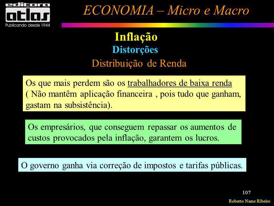 Inflação Distorções Distribuição de Renda