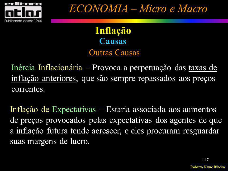 Inflação Causas Outras Causas