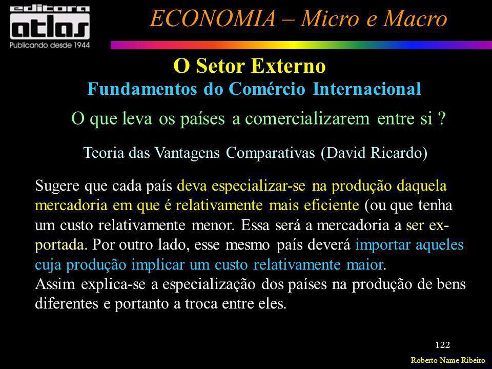 O Setor Externo Fundamentos do Comércio Internacional