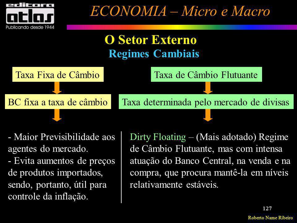 O Setor Externo Regimes Cambiais Taxa Fixa de Câmbio