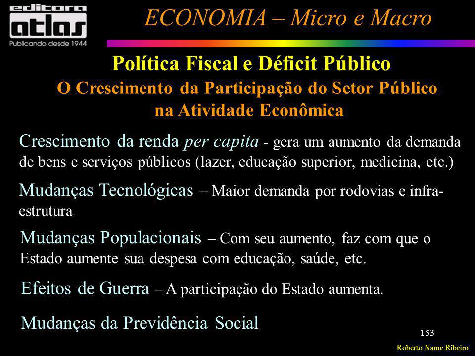O Crescimento da Participação do Setor Público na Atividade Econômica