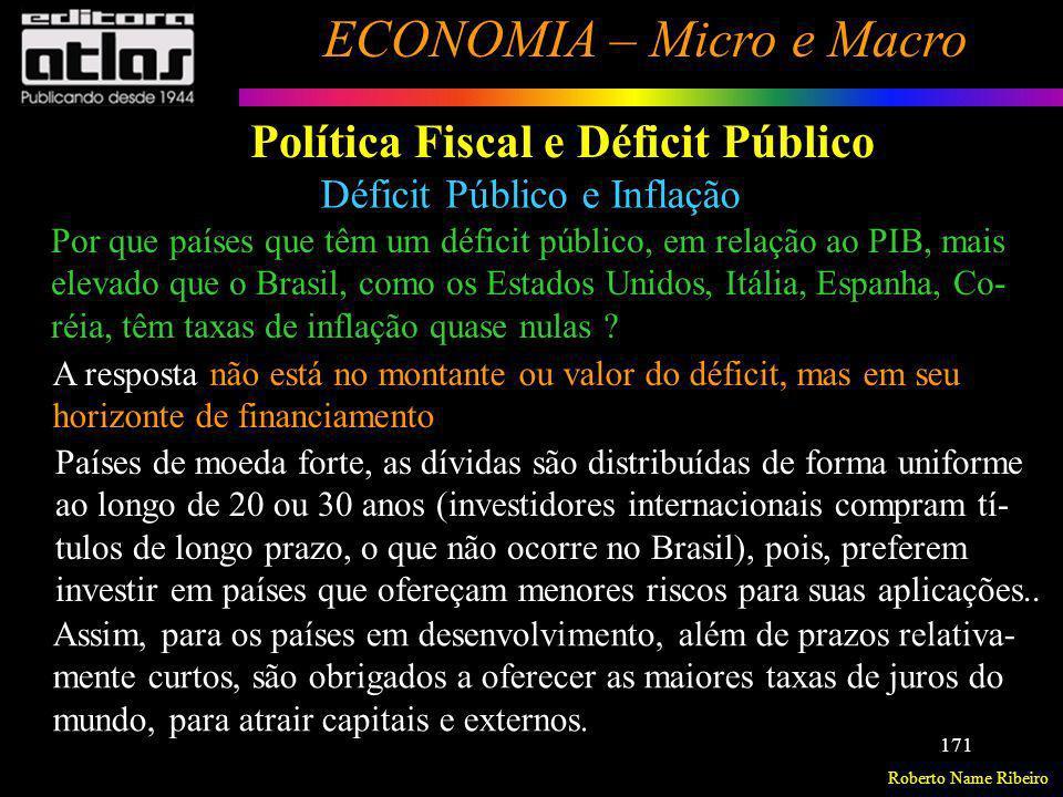 Política Fiscal e Déficit Público