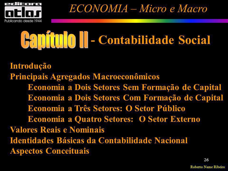 Capítulo II - Contabilidade Social Introdução
