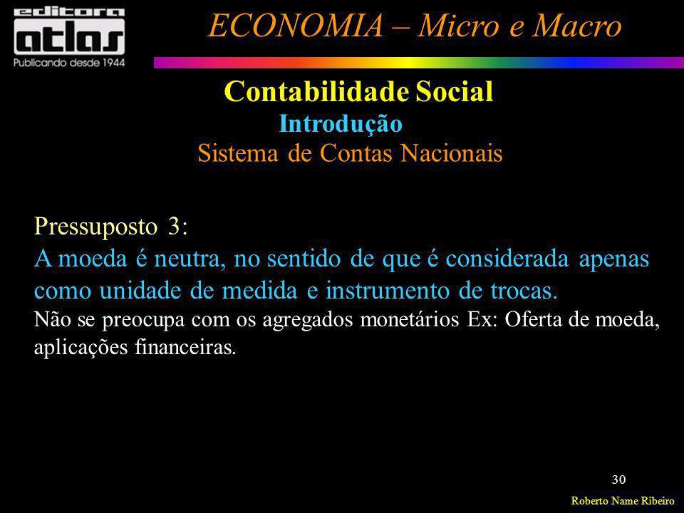Contabilidade Social Introdução Sistema de Contas Nacionais