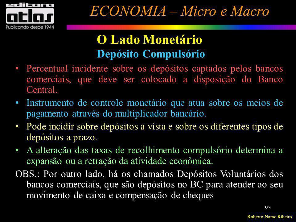 O Lado Monetário Depósito Compulsório