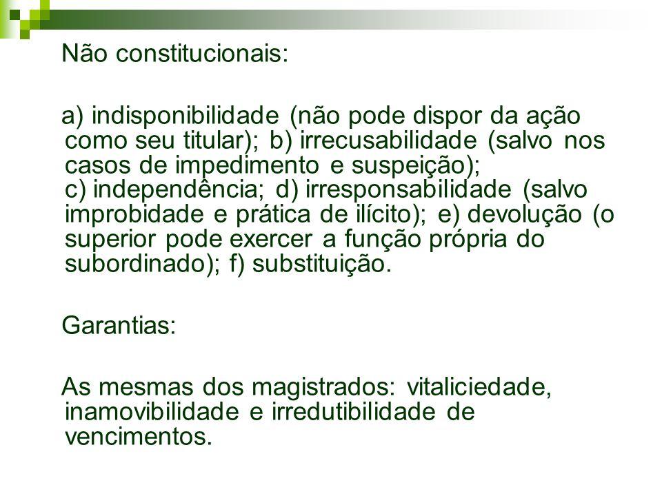 Não constitucionais: