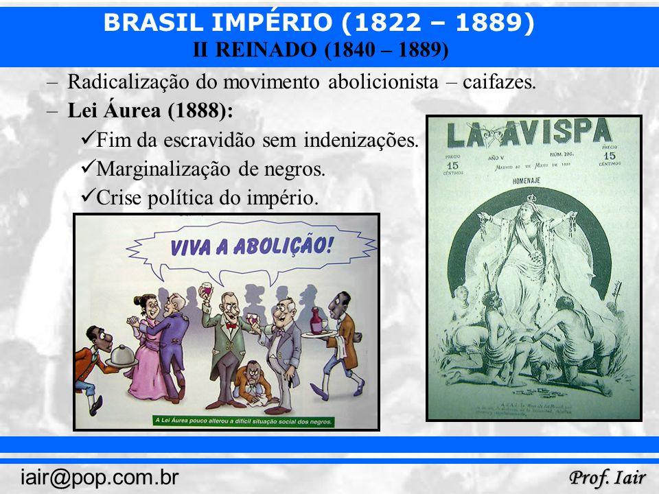 Radicalização do movimento abolicionista – caifazes.