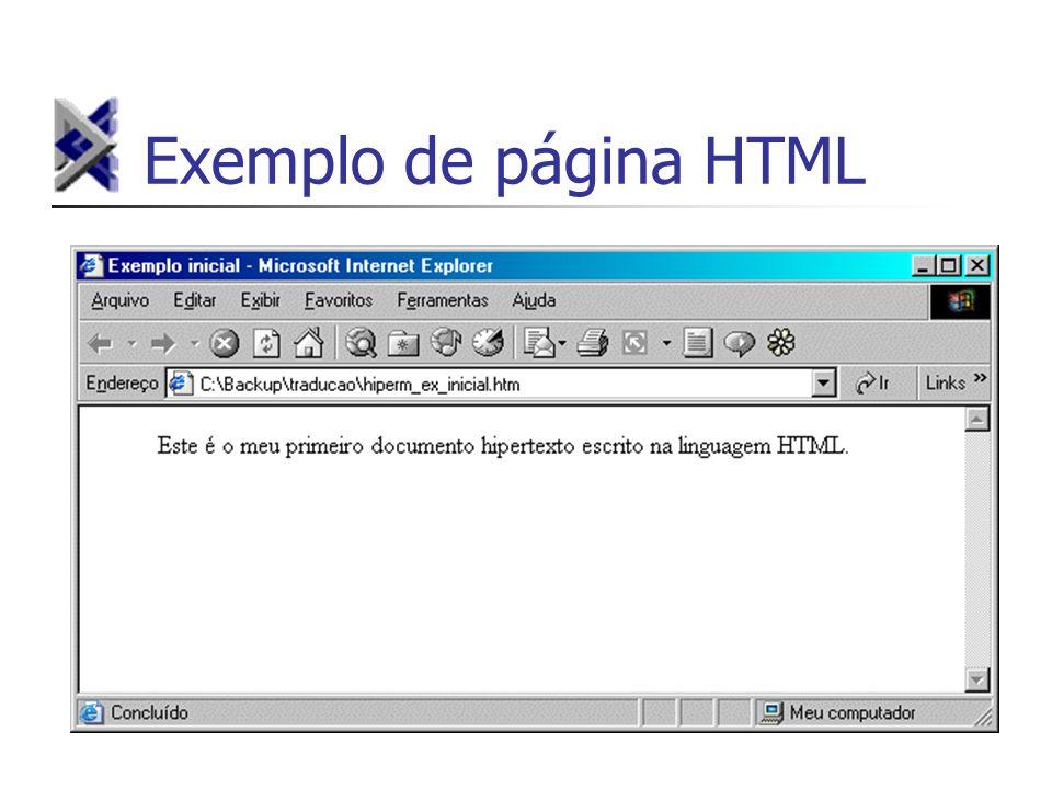 Exemplo de página HTML