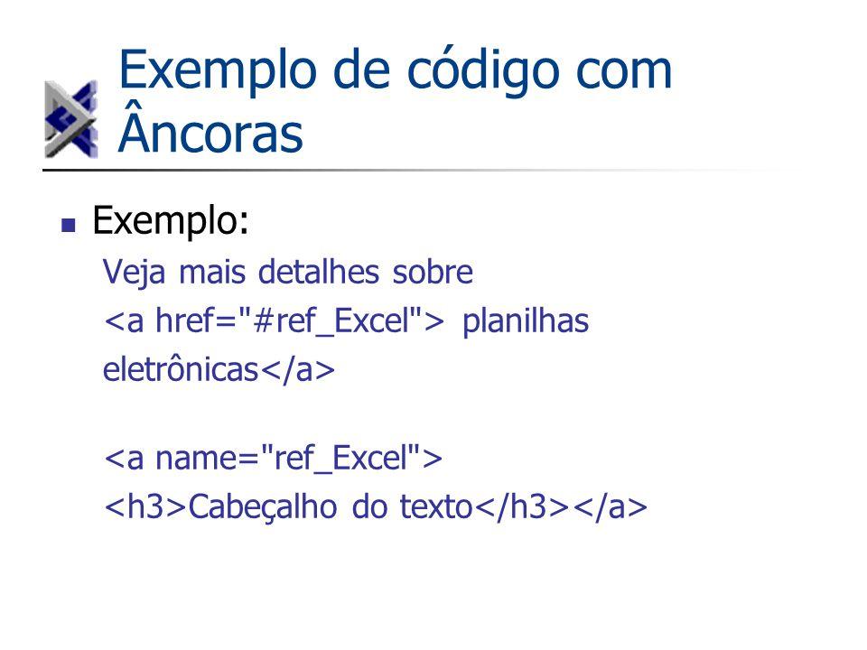 Exemplo de código com Âncoras