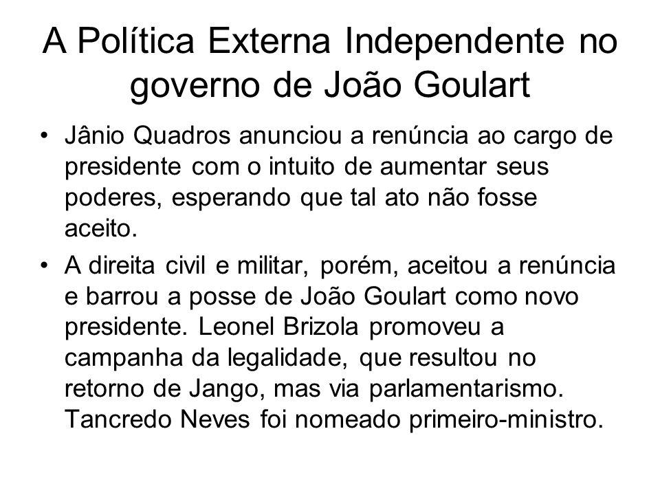 A Política Externa Independente no governo de João Goulart