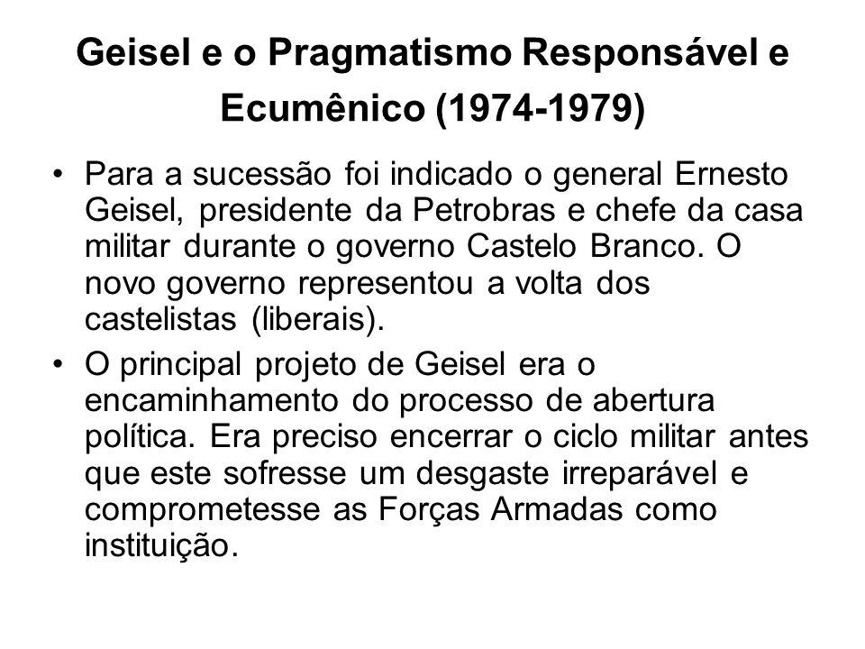 Geisel e o Pragmatismo Responsável e Ecumênico (1974-1979)