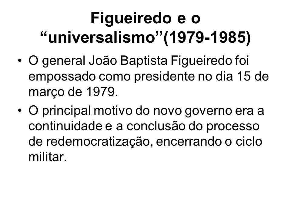 Figueiredo e o universalismo (1979-1985)