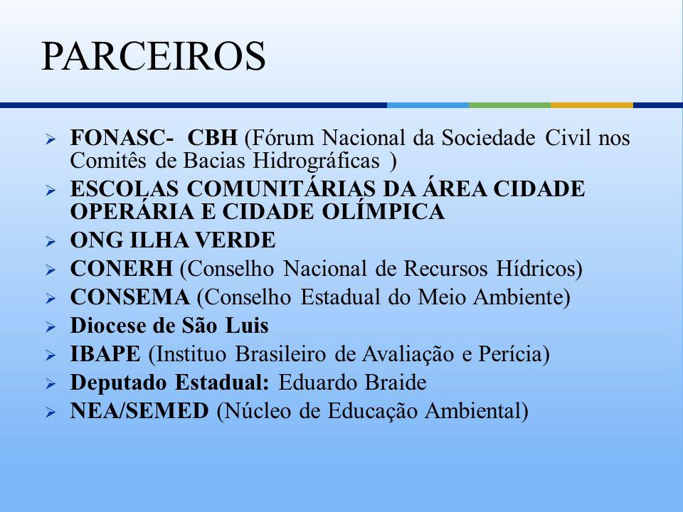 PARCEIROSFONASC- CBH (Fórum Nacional da Sociedade Civil nos Comitês de Bacias Hidrográficas )
