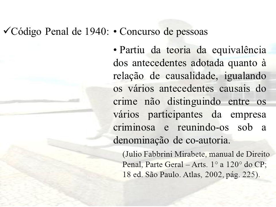 Código Penal de 1940: Concurso de pessoas