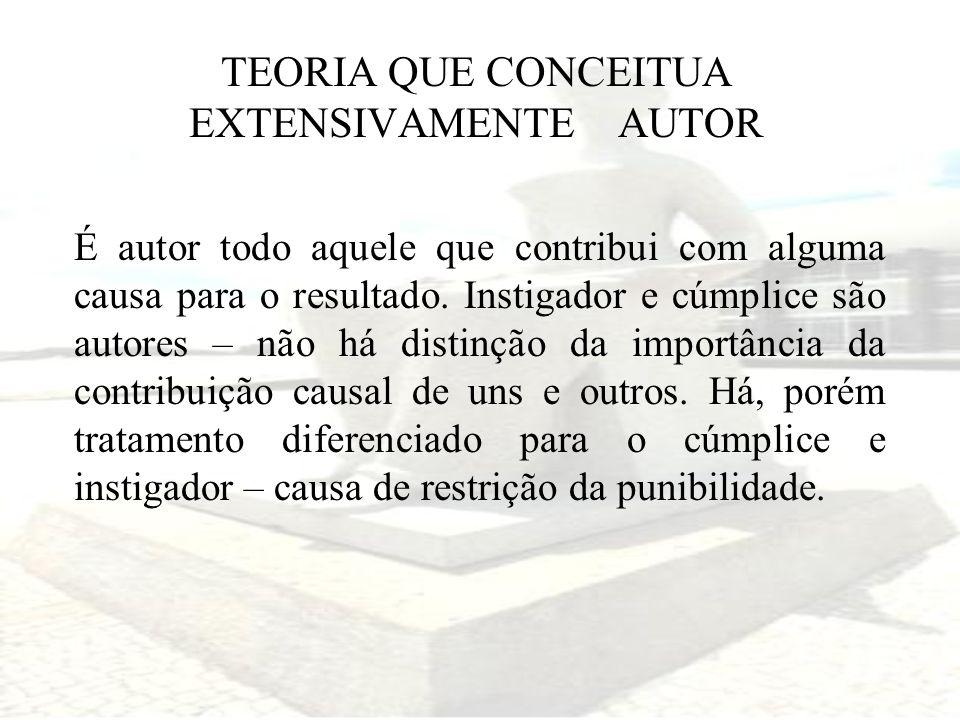 TEORIA QUE CONCEITUA EXTENSIVAMENTE AUTOR