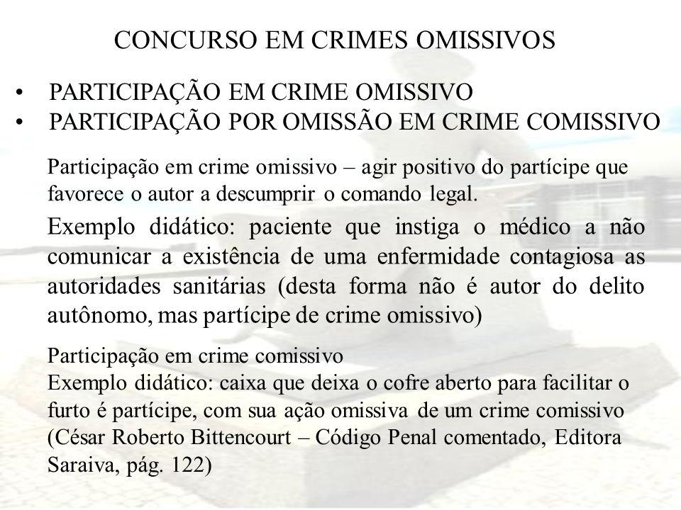 CONCURSO EM CRIMES OMISSIVOS