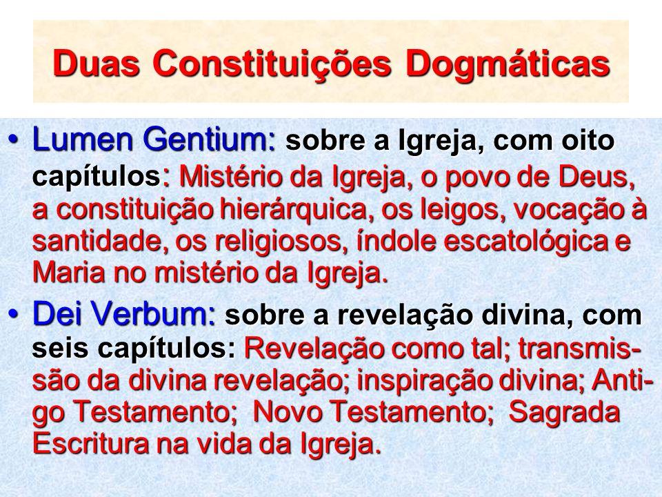 Duas Constituições Dogmáticas