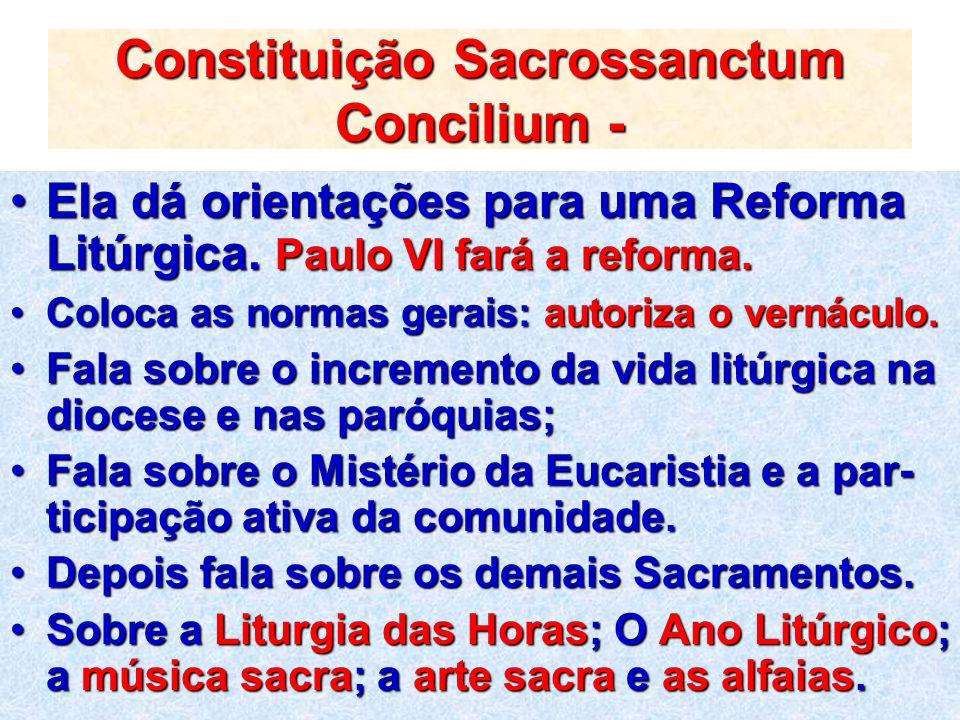 Constituição Sacrossanctum Concilium -