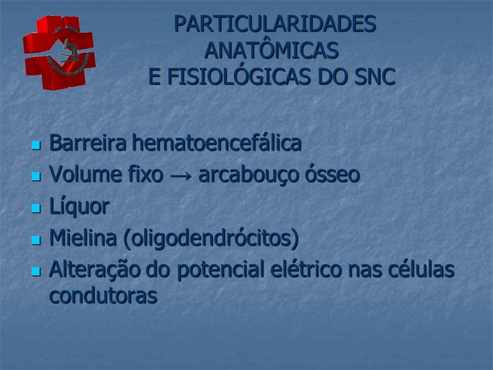 PARTICULARIDADES ANATÔMICAS E FISIOLÓGICAS DO SNC