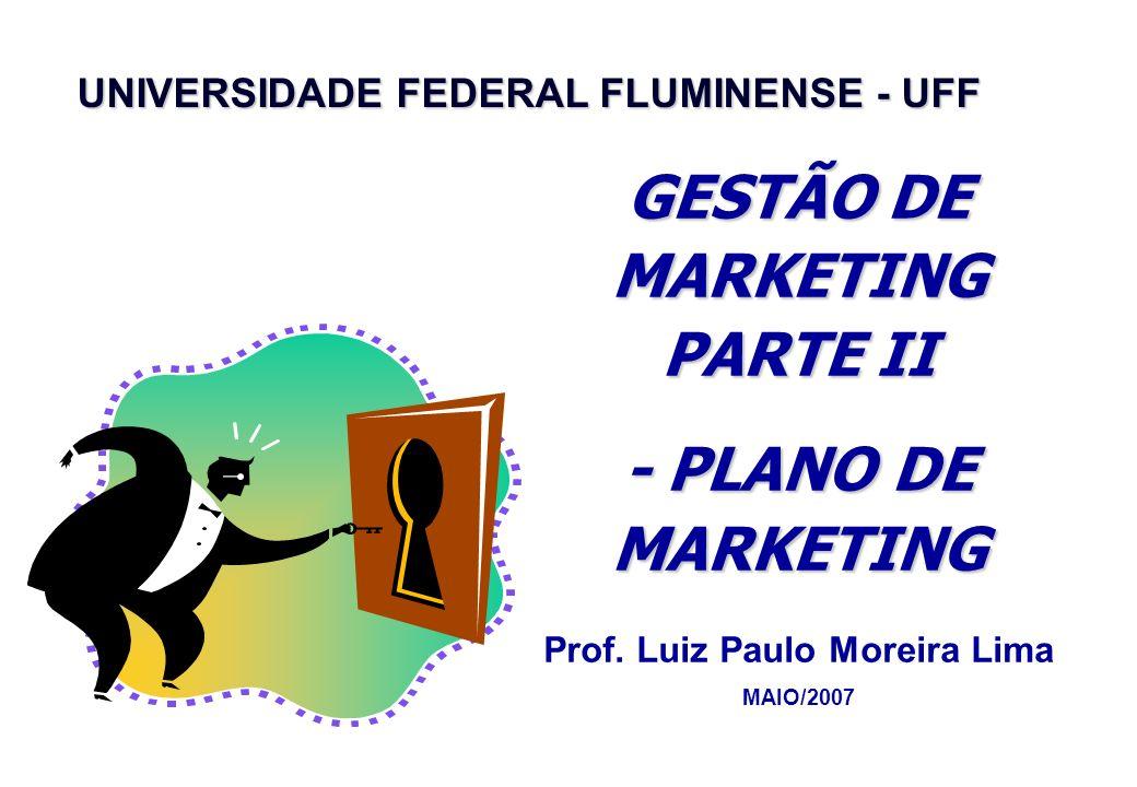 GESTÃO DE MARKETING PARTE II Prof. Luiz Paulo Moreira Lima