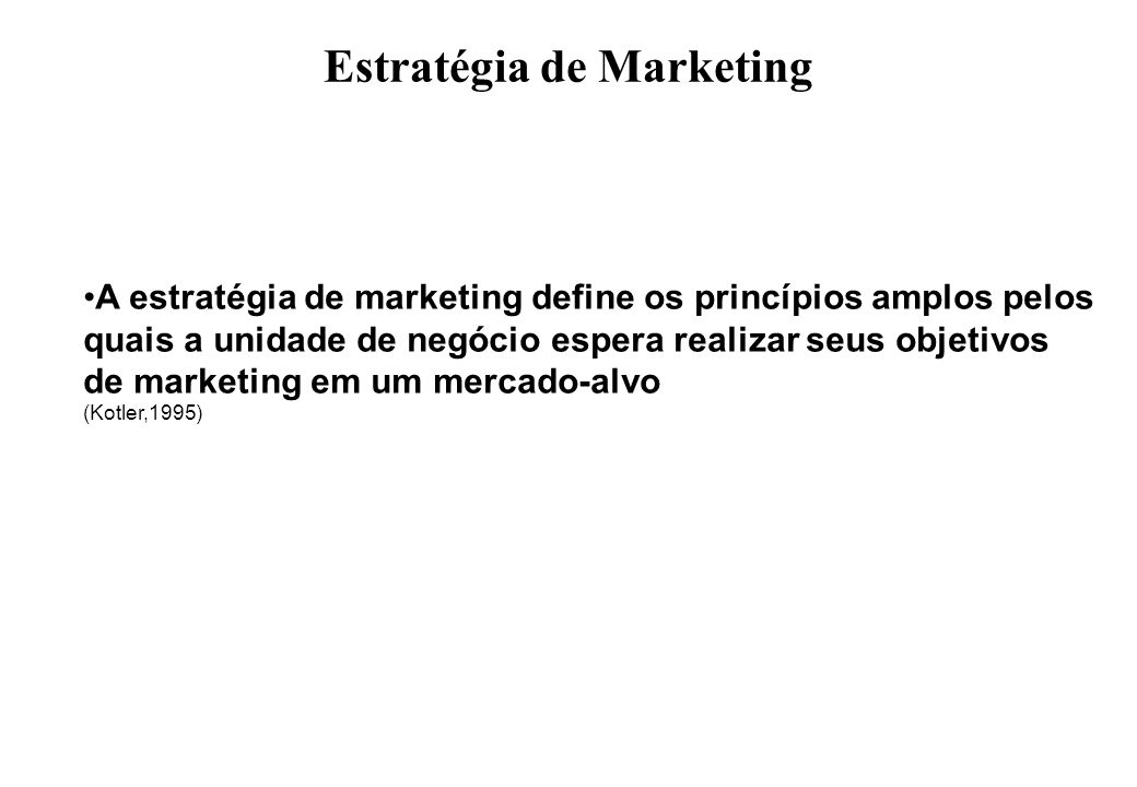 Estratégia de Marketing