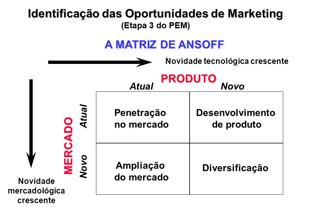 Identificação das Oportunidades de Marketing