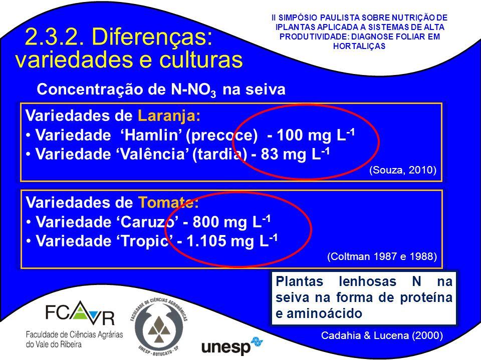 2.3.2. Diferenças: variedades e culturas