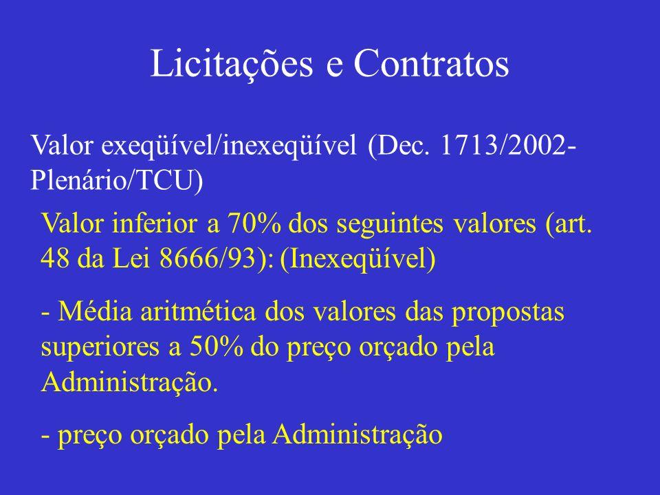Licitações e Contratos