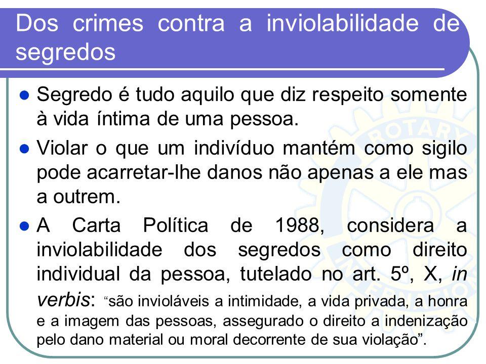 Dos crimes contra a inviolabilidade de segredos