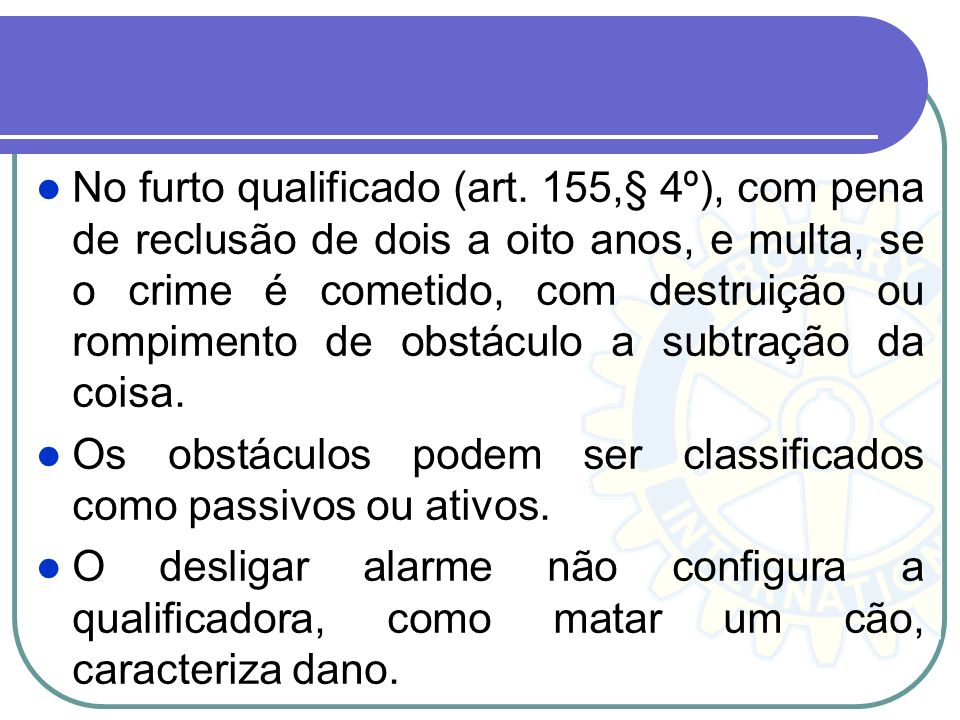 No furto qualificado (art