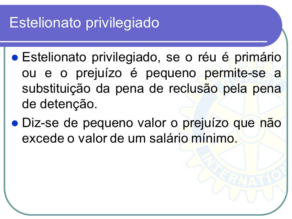 Estelionato privilegiado