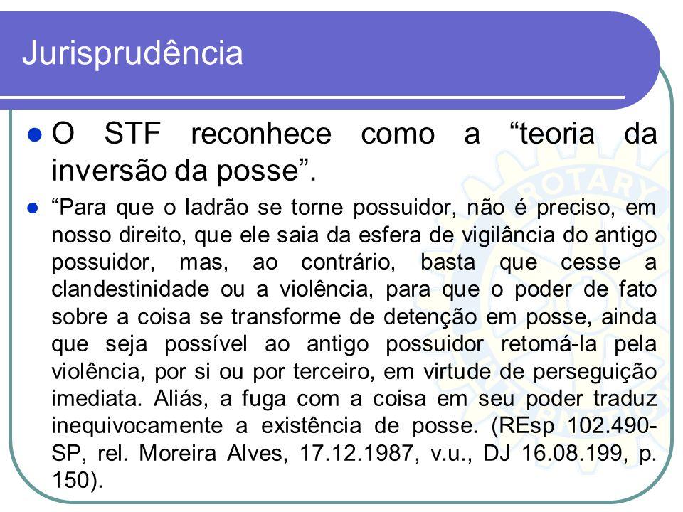 Jurisprudência O STF reconhece como a teoria da inversão da posse .