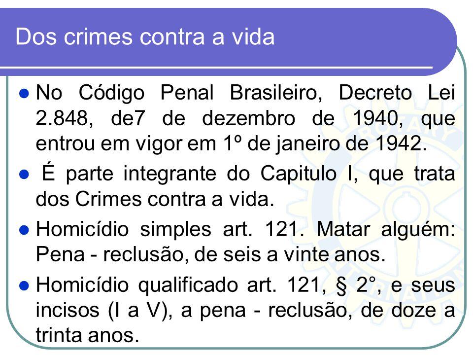 Dos crimes contra a vida