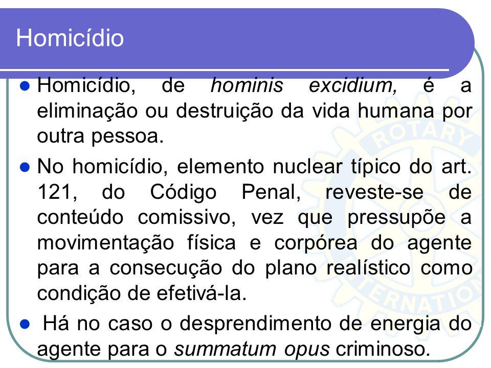 Homicídio Homicídio, de hominis excidium, é a eliminação ou destruição da vida humana por outra pessoa.