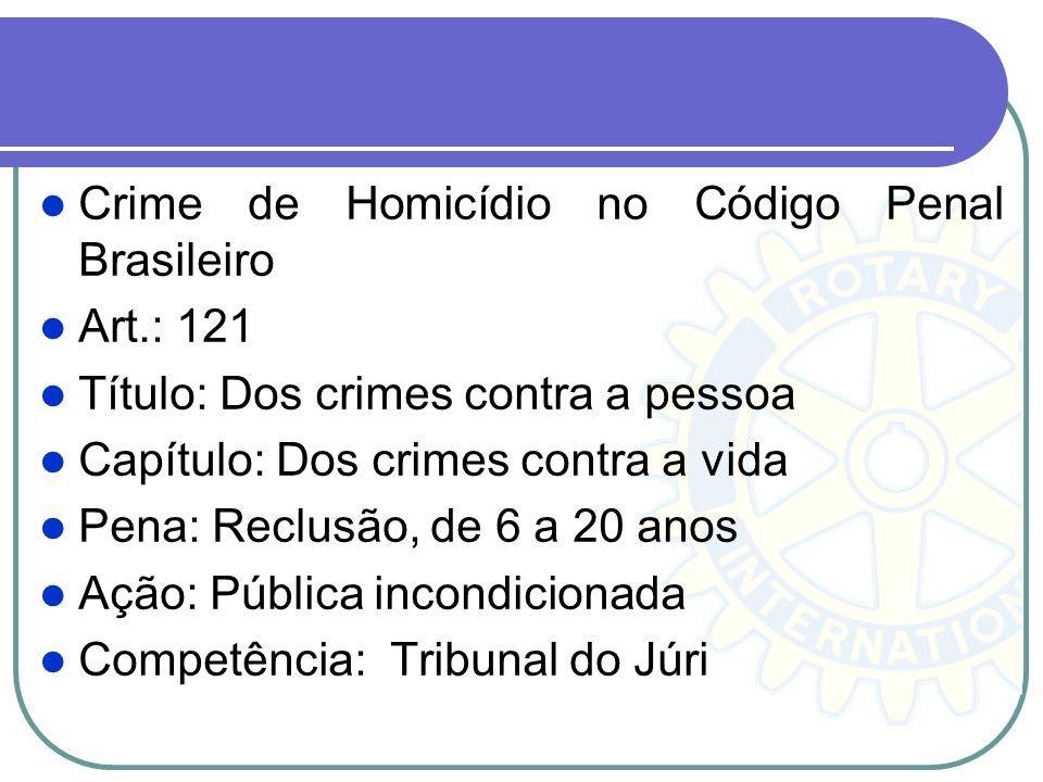 Crime de Homicídio no Código Penal Brasileiro