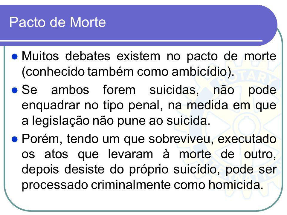 Pacto de Morte Muitos debates existem no pacto de morte (conhecido também como ambicídio).