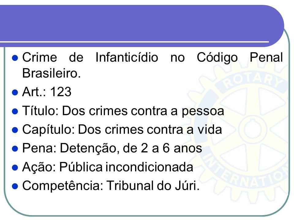 Crime de Infanticídio no Código Penal Brasileiro.